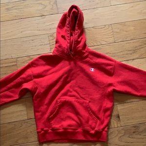 Champion women's reverse weave red sweatshirt
